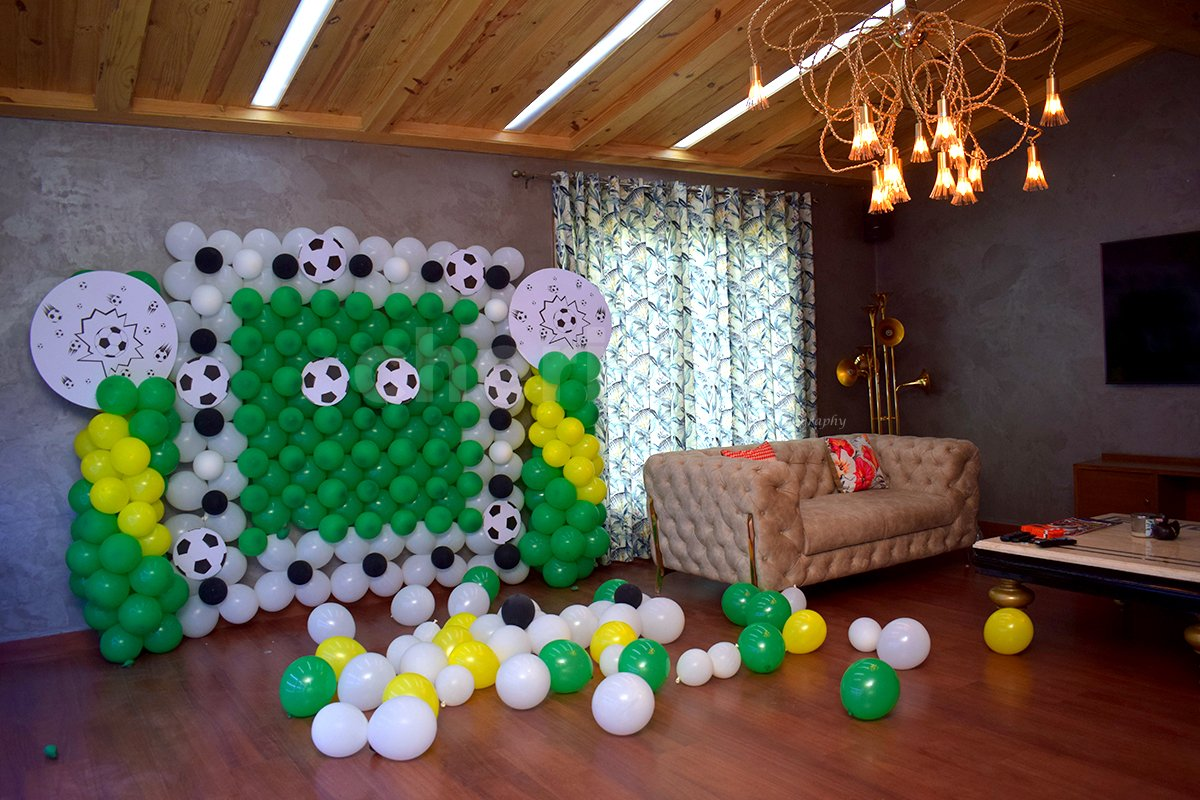 Book this adorable football decor for your Kid's birthday!