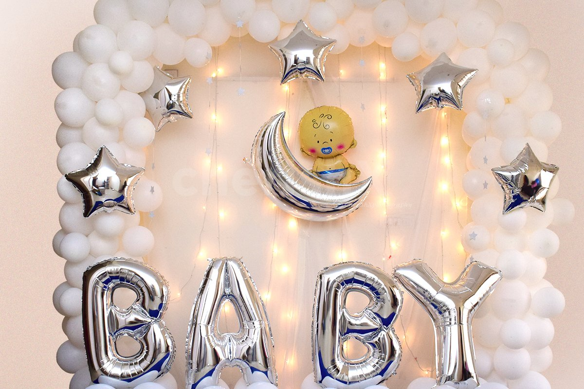 Heavenly Baby Shower Decor
