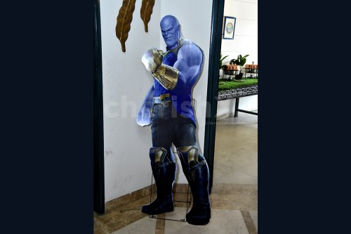 Thanos cut-out to give the perfect Avengers vibe.