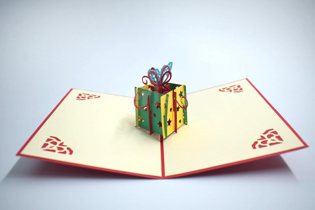 Gift Box 3D Pop Up Card
