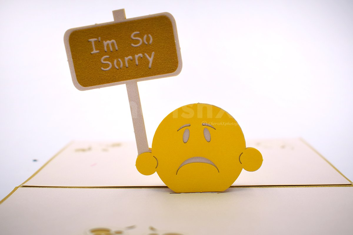 Sorry Emoji 3D Pop-Up Card