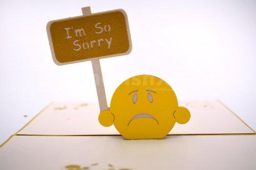 Sorry Emoji 3D Pop-Up Card