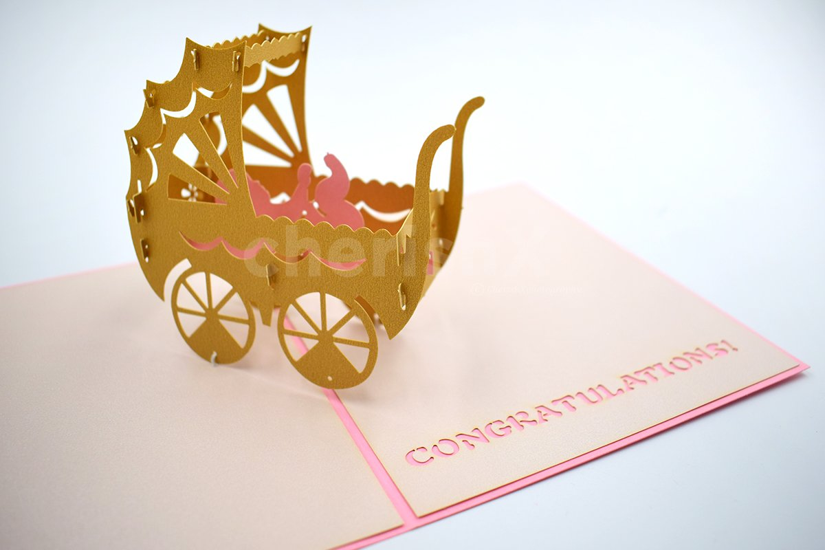 Welcome baby 3D Pop-Up Card