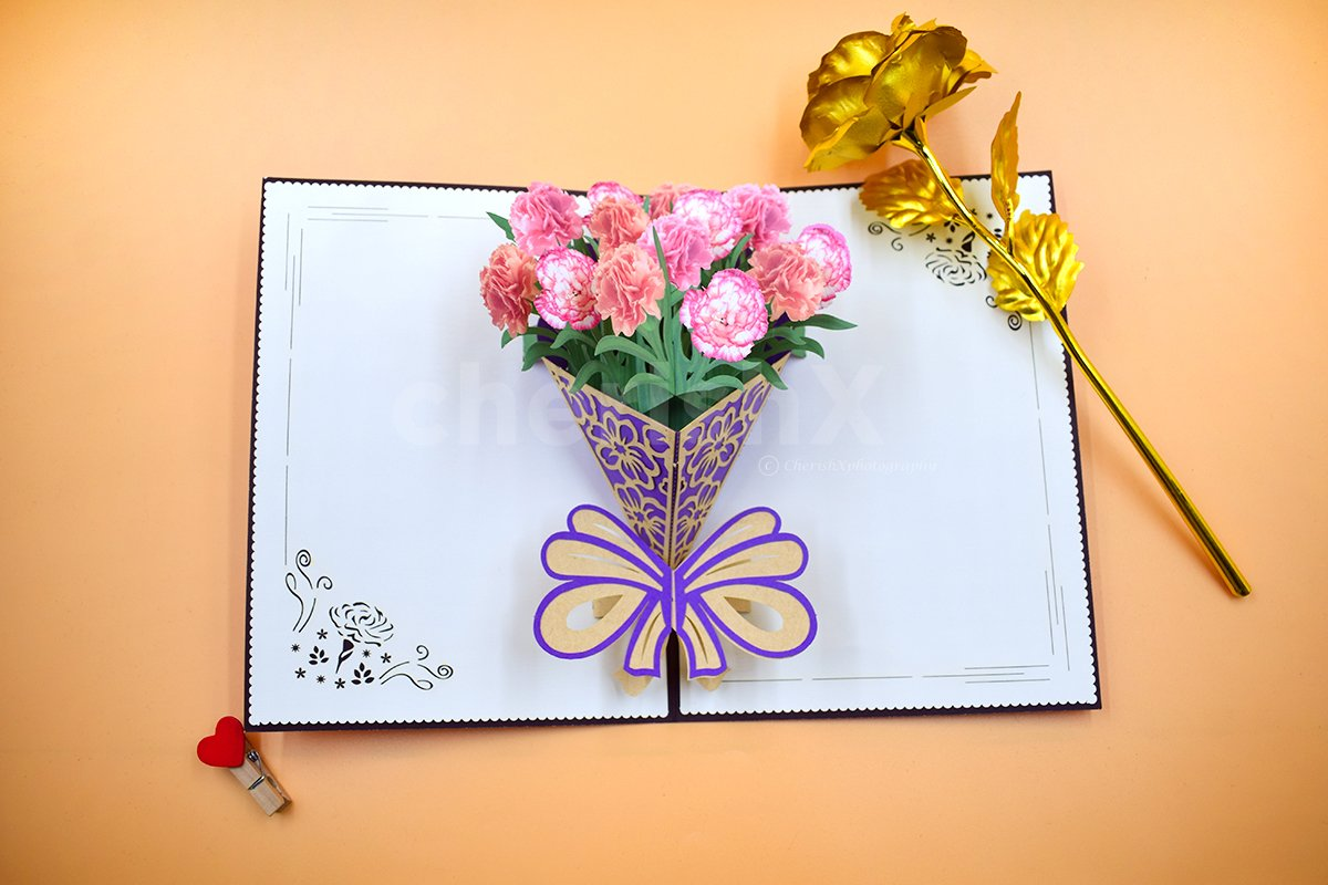 Carnation 3D Pop-Up Card