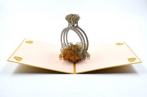 Diamond Ring 3D Pop-Up Card