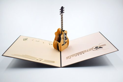 Guitar 3D Pop-Up Card