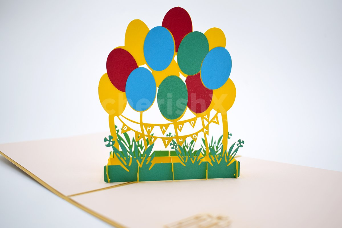 Birthday Balloon 3D Pop-Up Card