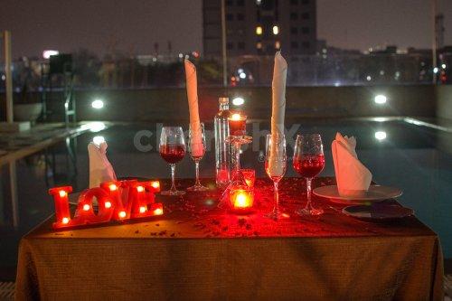 Moonlit Poolside Dinner