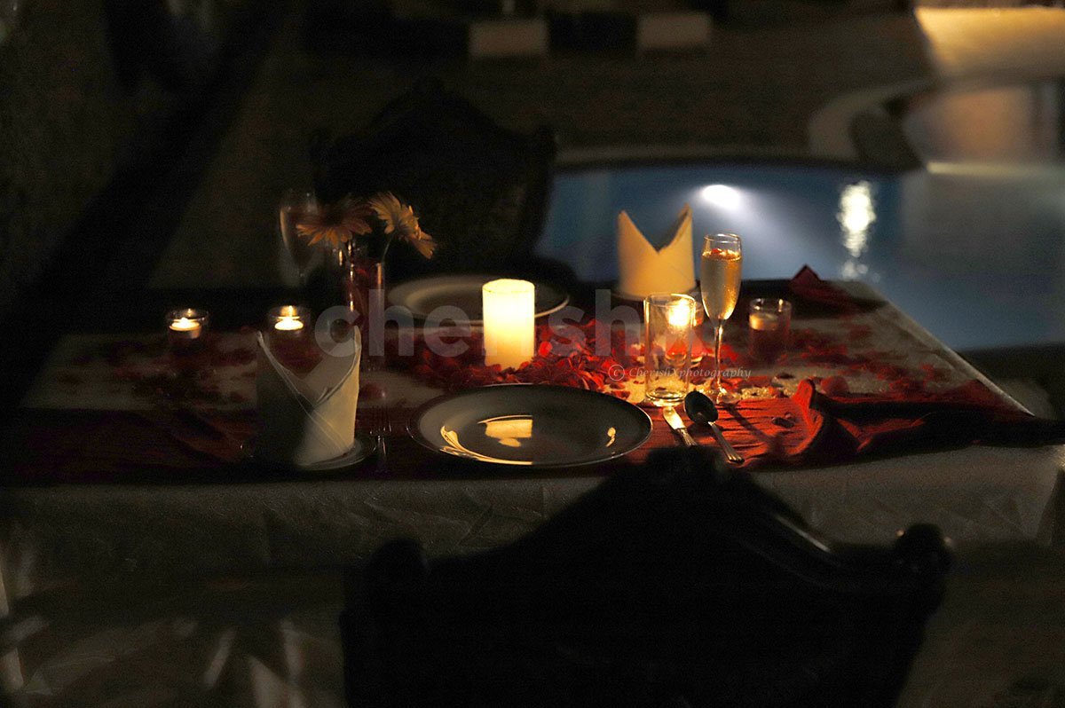 Poolside Candlelight Dinner in Bangalore