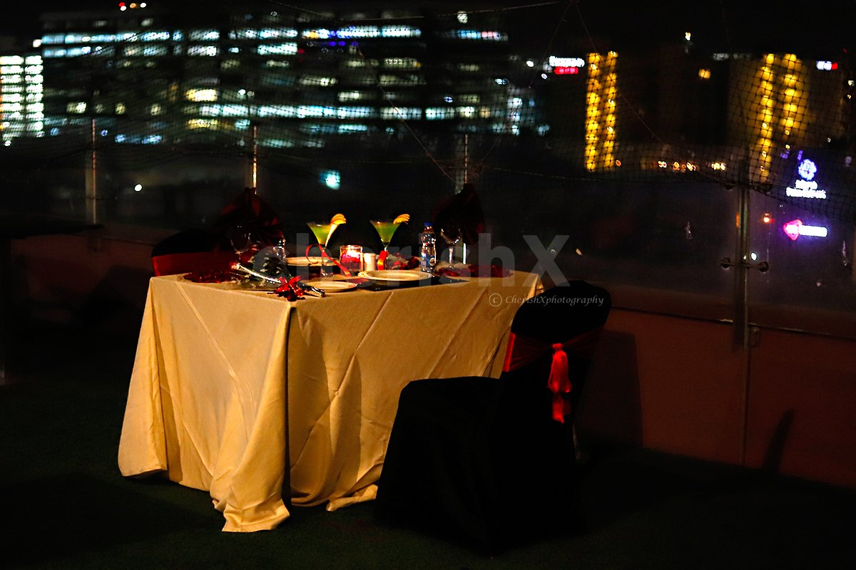 Alluring Rooftop Candlelight Dinner