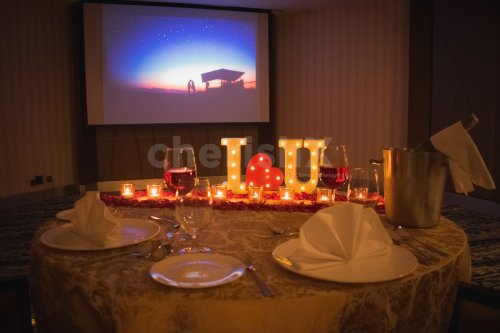 Private Dining Experience with Movie Setup at Radisson, Udyog Vihar