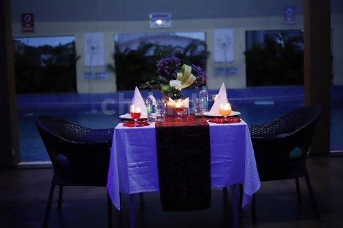 Rooftop Poolside Dinner