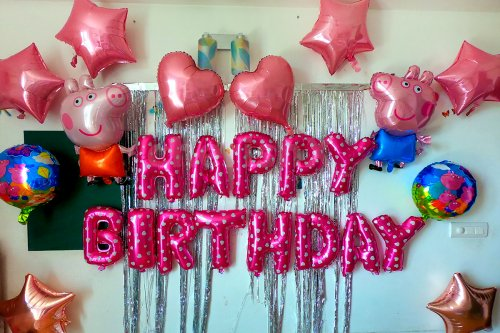 Peppa Pig Theme Decoration for Kid's Birthday Party