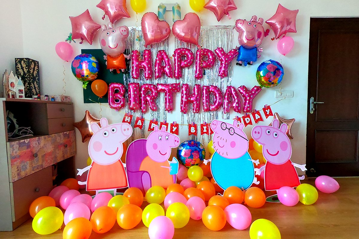 Peppa Pig Theme Party Decorations in Delhi, NCR