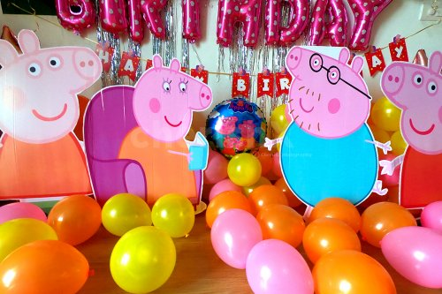Decoration with Cut Outs of Peppa Pig Characters