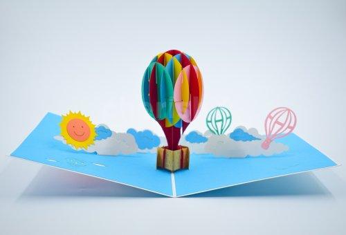 3D Hot Air Balloon Card