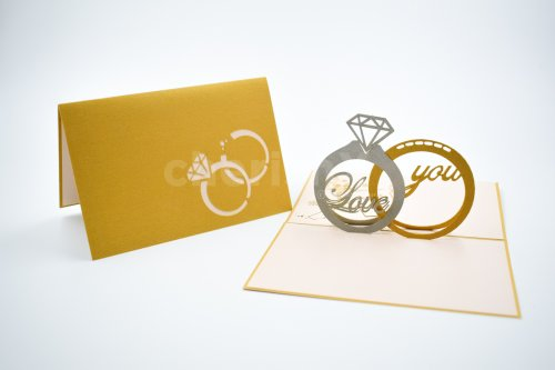 Wedding Rings 3D Pop Up Card