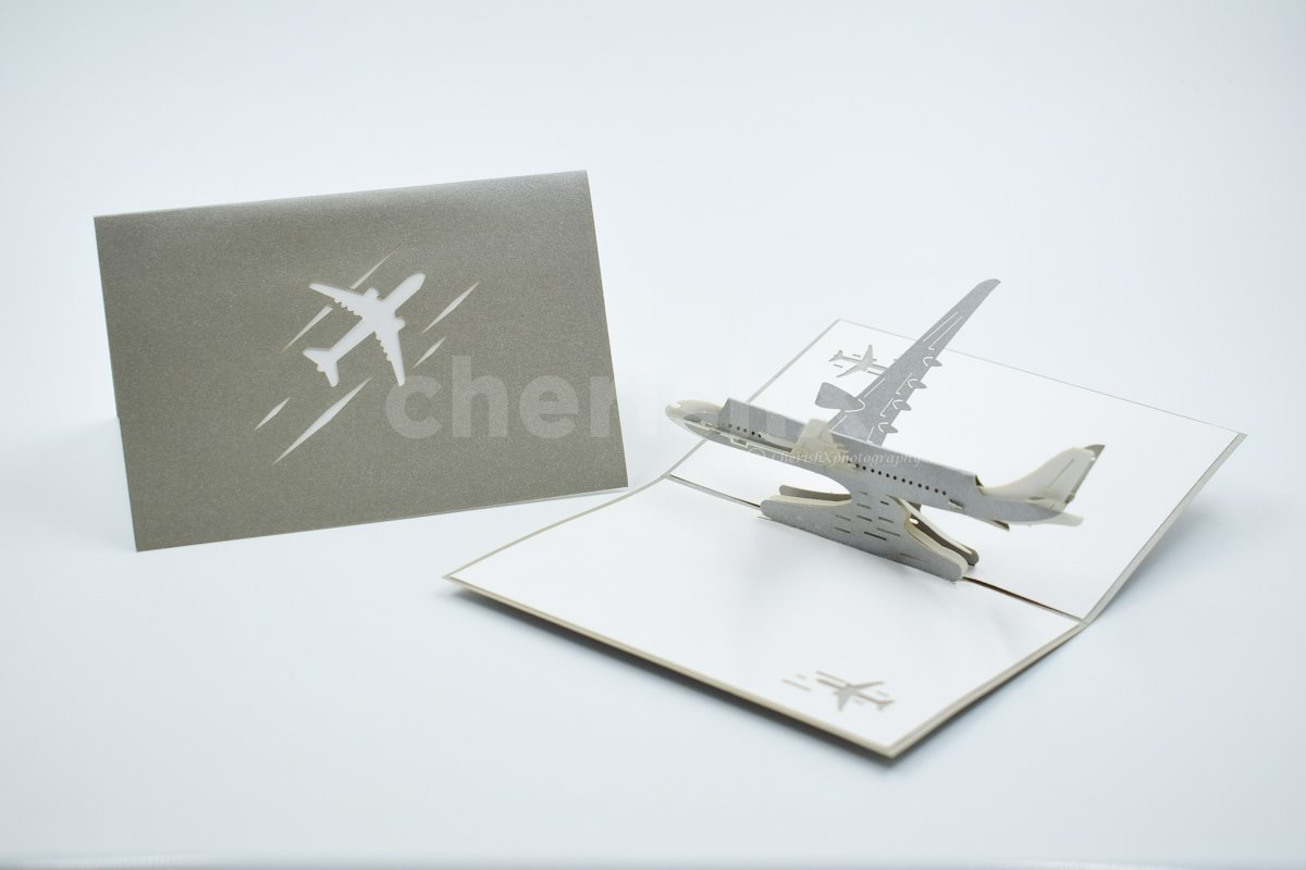 Amazing Airplane 3D Pop Up Card