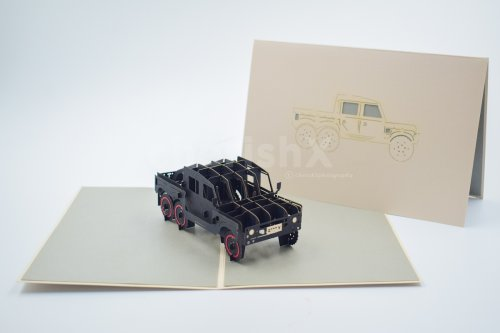3D PUBG Truck greeting card