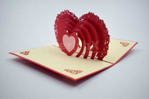 3D Heart Pop Up Card