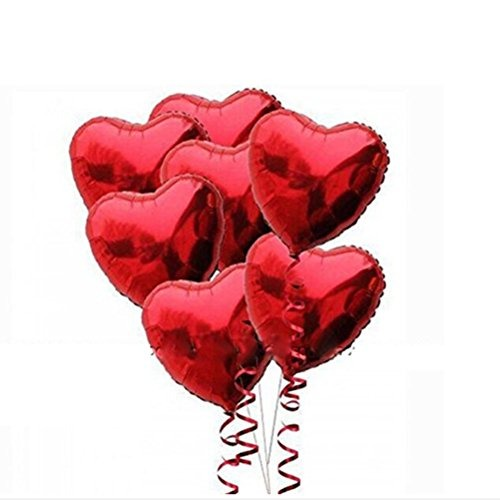 Add 5 More Red heart foil Balloons (Air Filled)