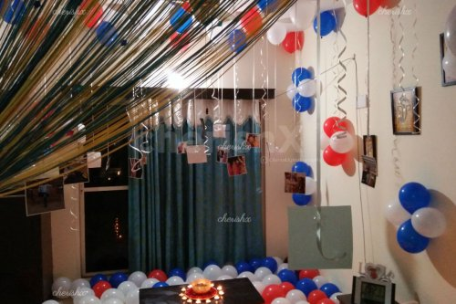 Balloon Decoration with Printed Photos in Bangalore