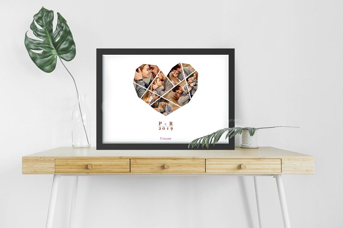 Personalised Heart art Frame