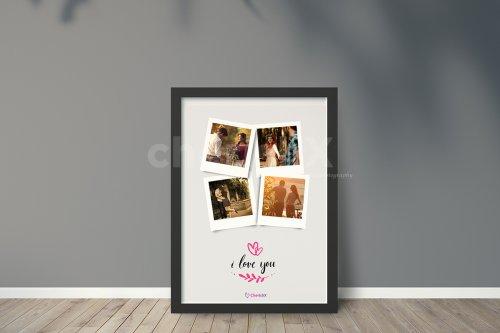 I Love You Polaroid Collage Frame