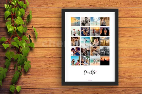 Our Life Collage Photo Frame