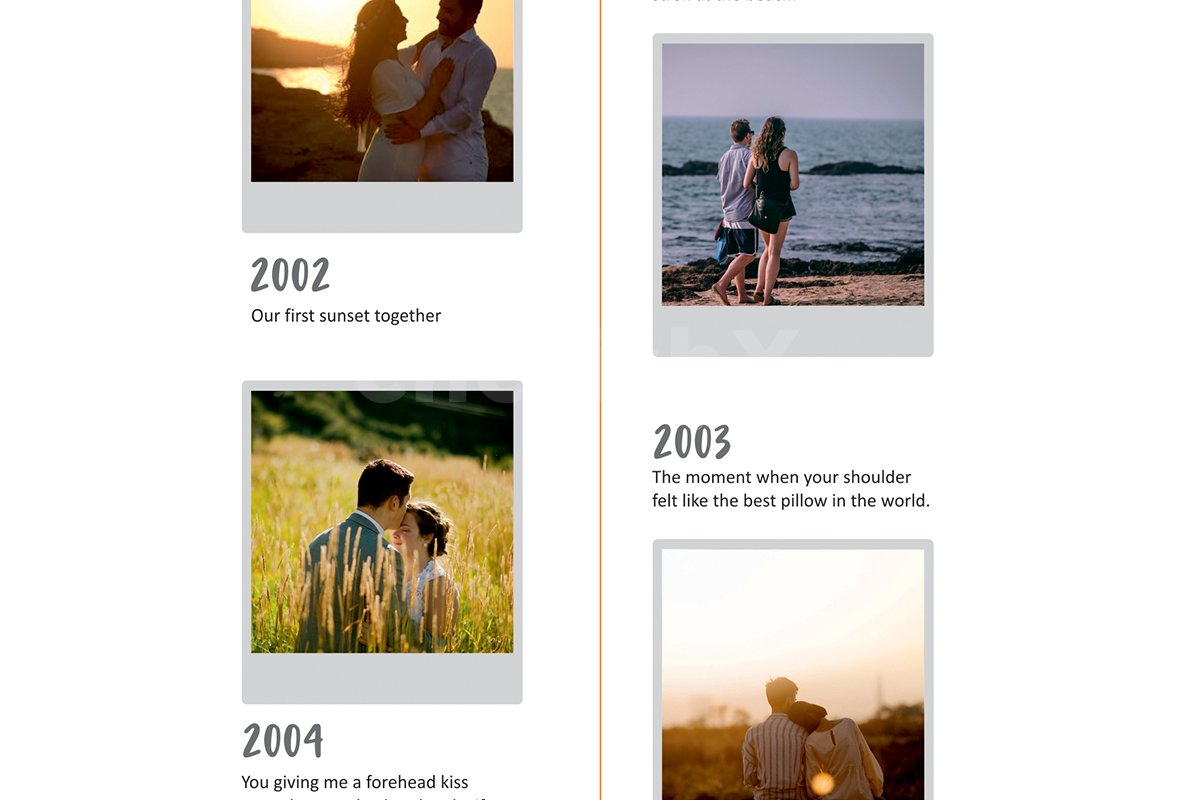 Personalised Relationship Story Photo Frame