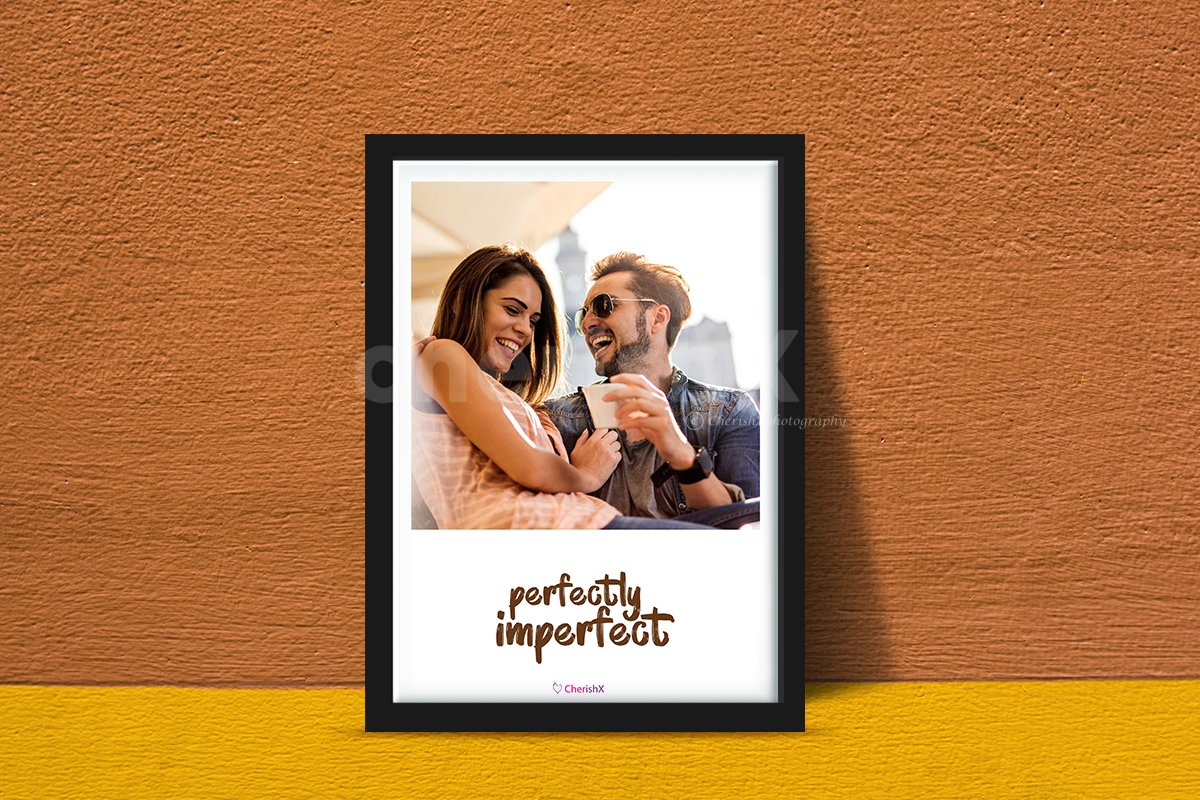 Book a photo frame with custom text and surprise your special one.