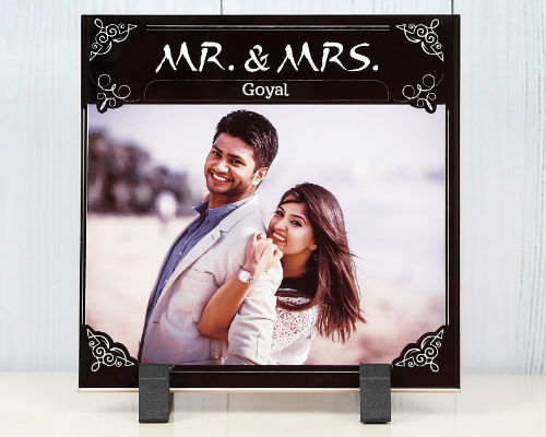 Personalised Easel on table