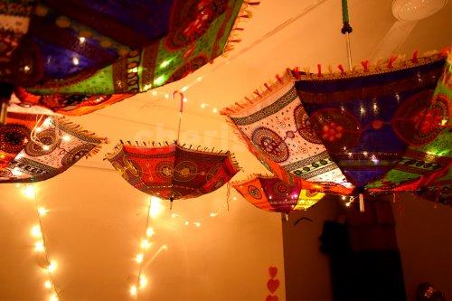 Rajasthani Umbrella Decoration at home
