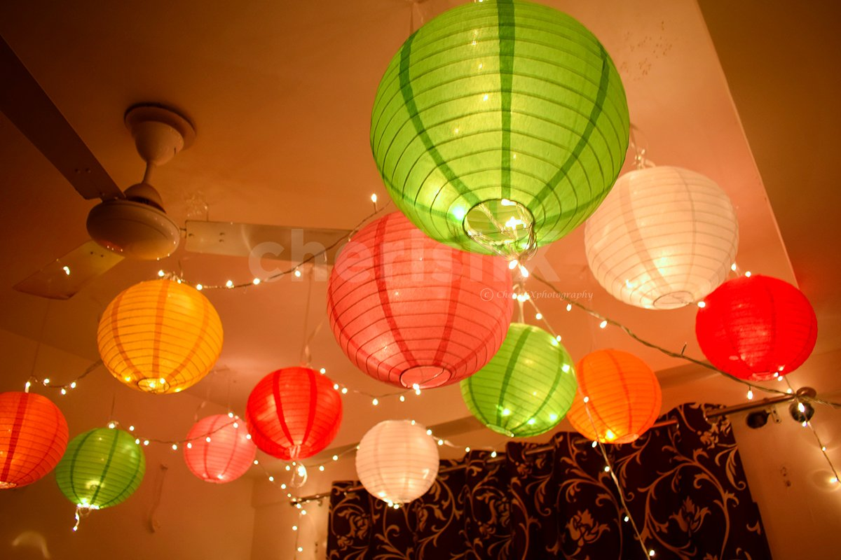 Colourful Lantern Decor
