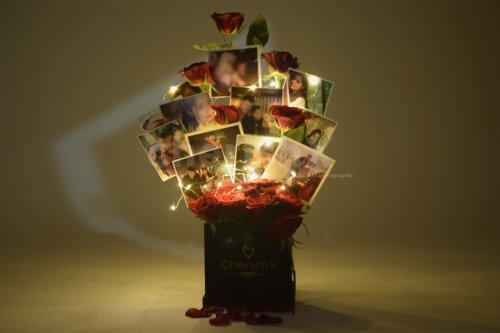 CherishX's Rose Bucket with Photos for birthdays and anniversaries.