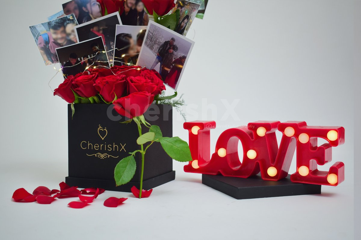 Rose Bucket with Photos