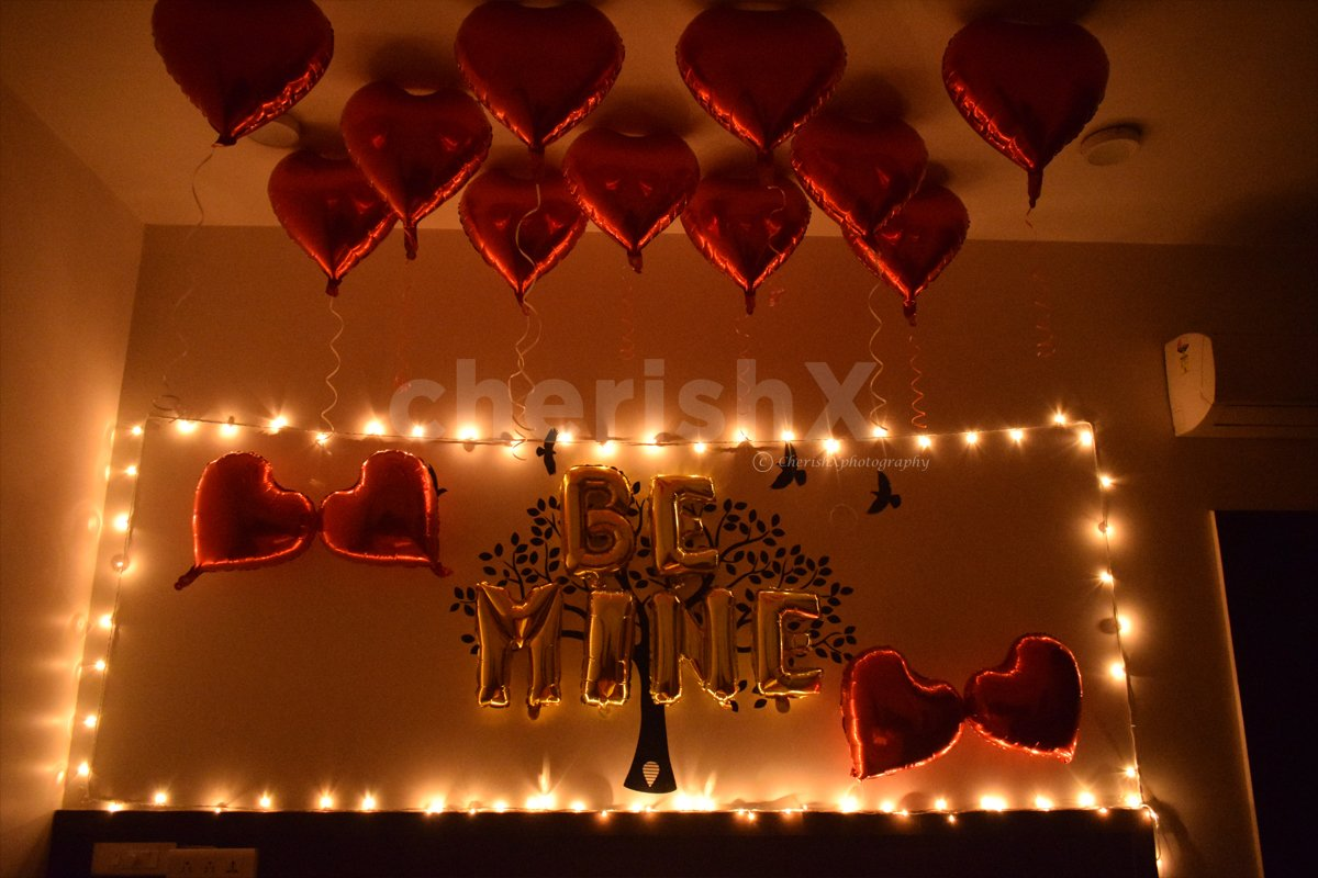 Whether you are celebrating your anniversary or surprising your love, choose this Be Mine Room Decoration for a perfect celebration.