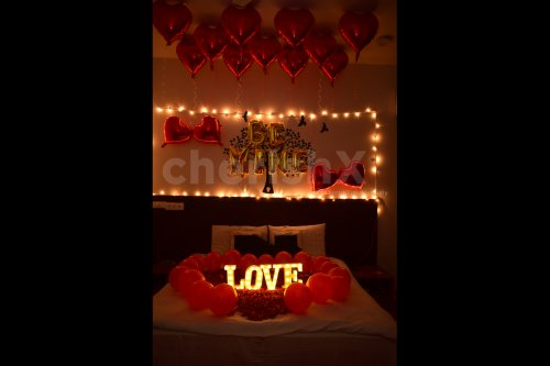Choose this Be Mine Decor for an anniversary, wedding night or for a casual surprise.
