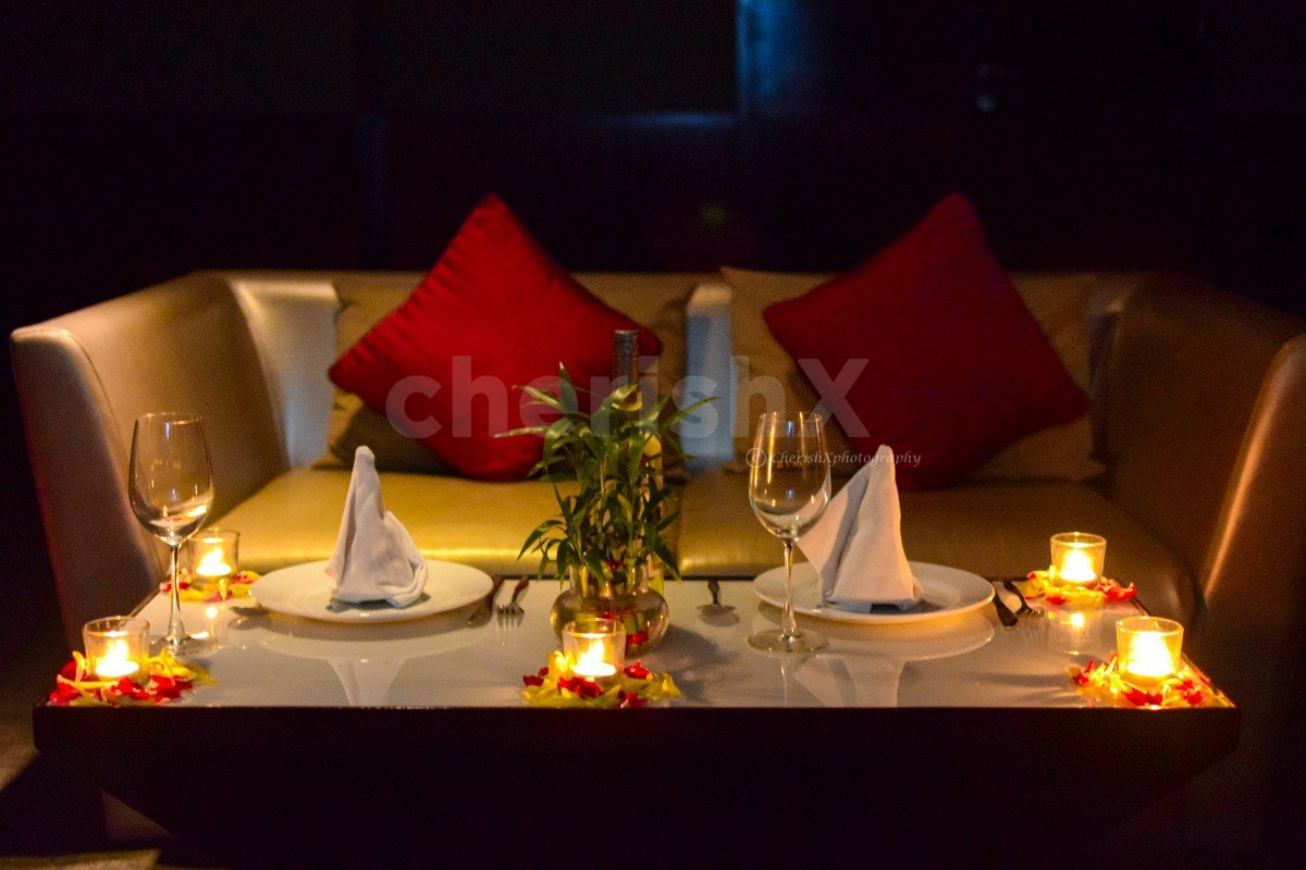 Romantic Candlelight Dinner with Movie Setup in Sector 29, Gurgaon
