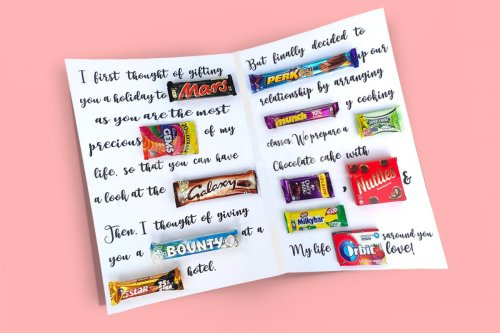 Personalised Chocolate Card