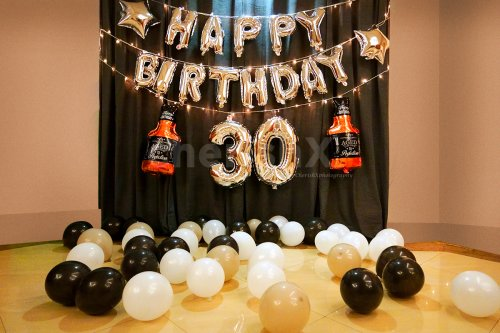 Simple Birthday Balloon Decoration at home or bedroom