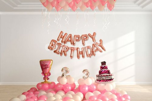 Wall Decoration for Pink theme Birthday Decorations