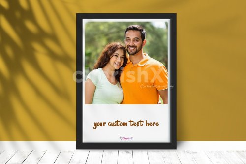 Digital Photo Frame With Custom Text