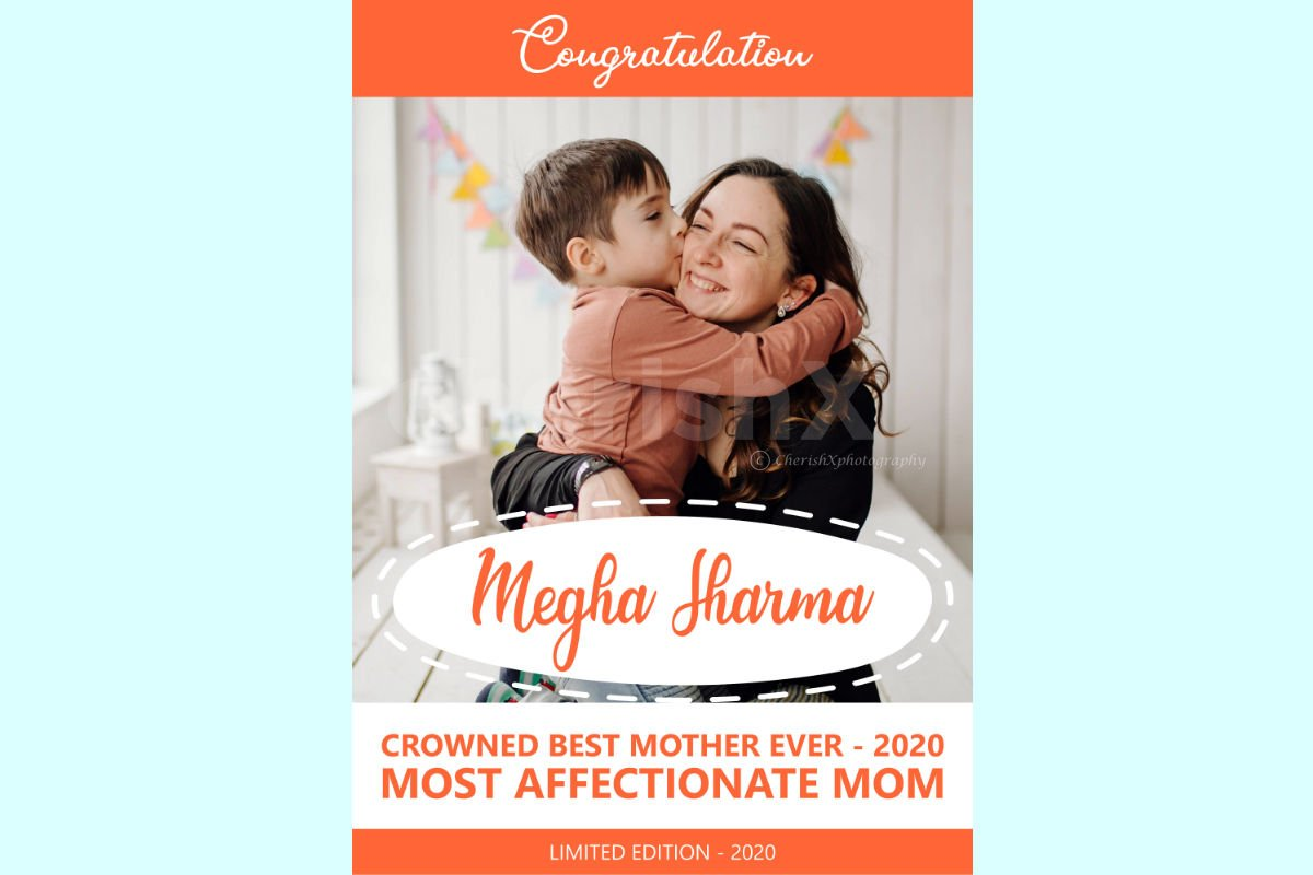 Mothers Day personalized poster