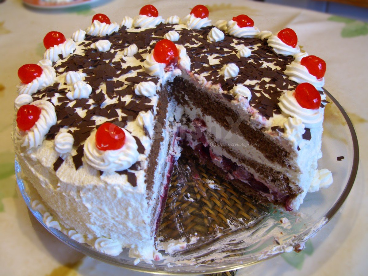 Fresh black forest cake for birthday