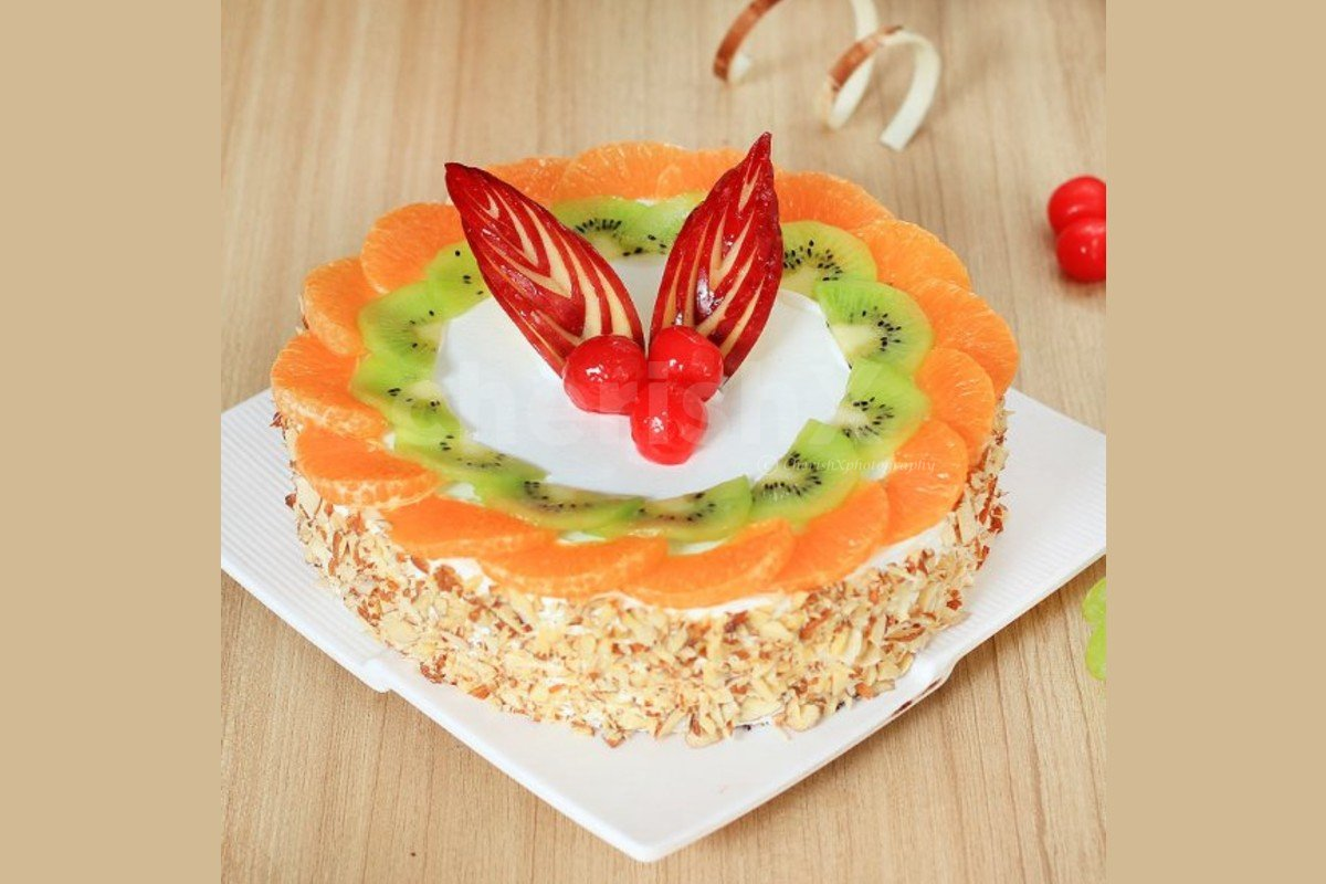 fresh fruit cake delivered to your home for your celebration