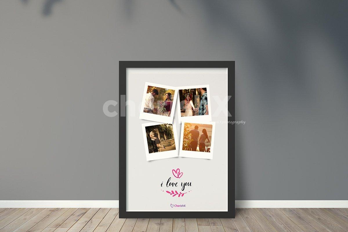 Digital polaroid collage frame by cherishx