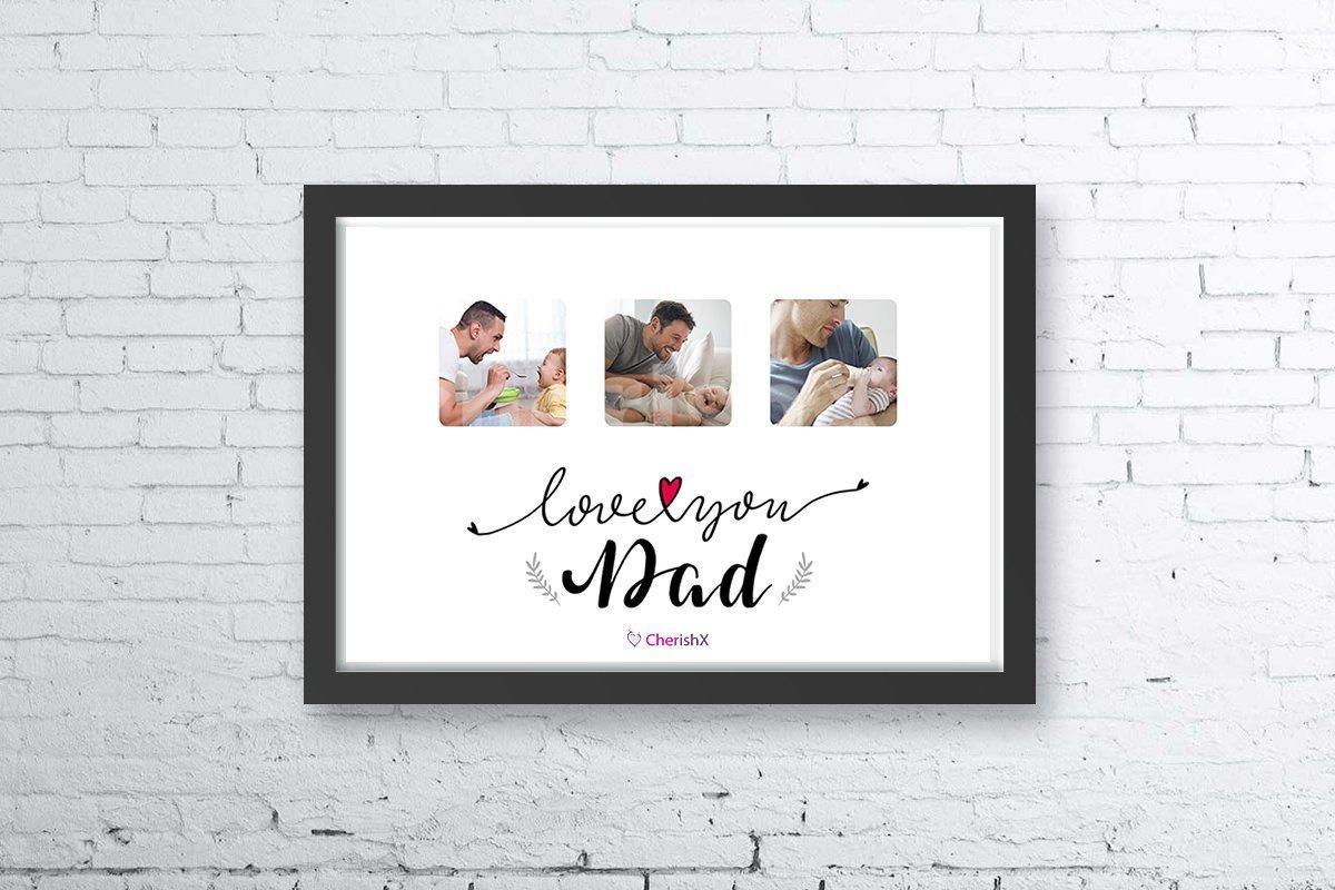 Digital i love you dad frame