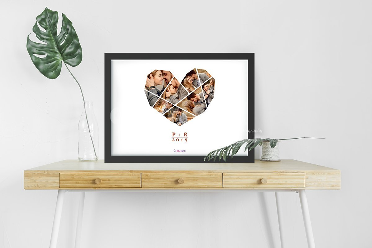 Personalized digital heart frame