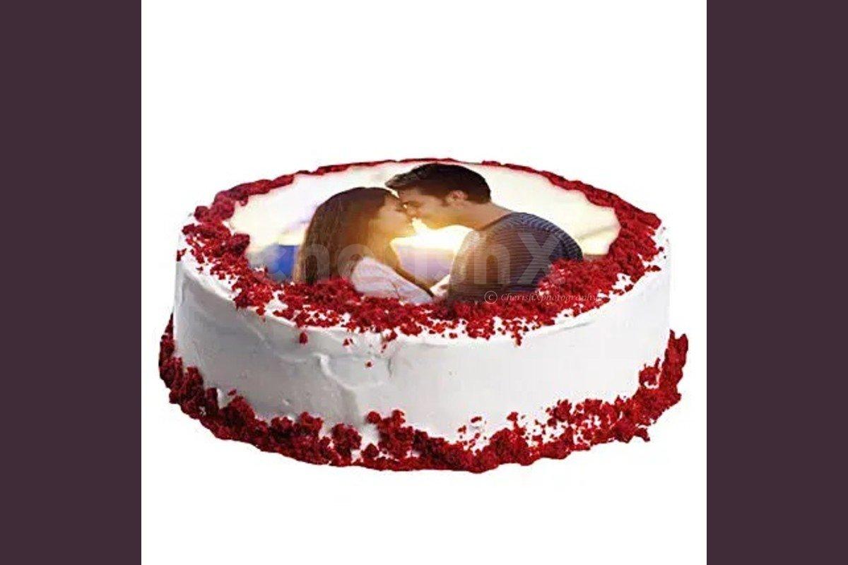 photo cake red velvet flavor